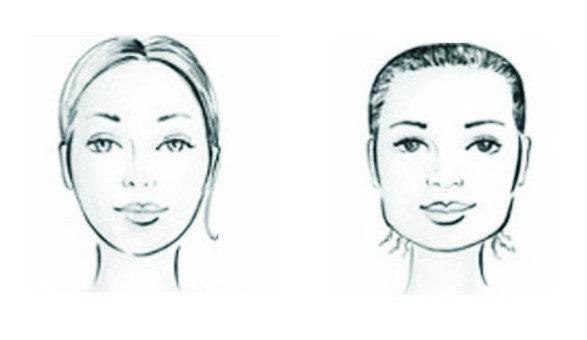 twarz geometryczna i obła