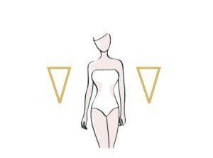 kształt sylwetki - trójkąt odwrócony